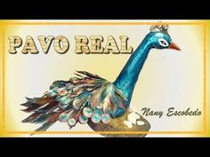 PAVO REAL CON PAPEL PERIÓDICO / PEACOCK with newspaper - YouTube Newspaper Art, Arts And Crafts, Paper Crafts, Recycled Crafts, Fabric Painting, Peacock, Christmas Ornaments, Holiday Decor, Artist