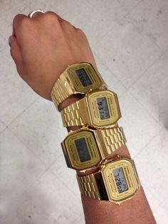 Dont believe me just watch. Cool Watches, Watches For Men, Wrist Watches, Men's Watches, Casio Gold, Watch Necklace, Beautiful Watches, Digital Watch, Casio Watch
