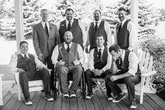 loving these black & white groomsmen | http://www.mywedding.com/articles/ali-and-cybils-elegant-sonoma-ca-wedding-by-viera-photographics/