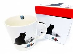 Tiermotiv TassenKatzen Motiv Tasse: Katze - Black Cat, Tasse mit Box