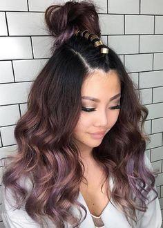 """""""Chocolate Mauve"""" ombré hair"""
