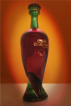 Chile Caliente Tequila  Bottle design by Icaro Consultores  Handcrafted.