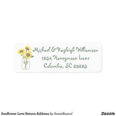 Sunflower Love Return Address Label