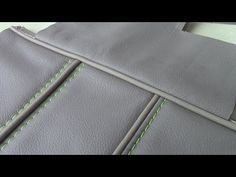 French Seams & Flat Felled Seams with Piping TIPS (Part -Car upholstery Automotive Upholstery, Car Upholstery, Automotive Decor, Sewing Leather, Leather Craft, Sewing Hacks, Sewing Tutorials, Sewing Piping, Leather Tutorial