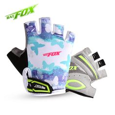 BAT FOX  Free shipping  Kids Cycling Gloves 3 Patterns Girls & Boys Anti-sweat Breathable Summer Bicycle Bike Gloves MTB Gloves  #Affiliate