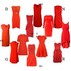 red dress for kibbe types by moara on Polyvore featuring мода, McQ by Alexander McQueen, VILA, Freda, Balmain, L.K.Bennett, KAS New York, MANGO, Fendi and Narciso Rodriguez