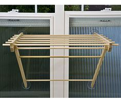 window drying rack in use Window Mounted Clothes Drying Rack