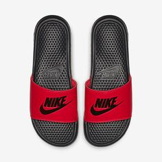 new concept ff5c1 4b4ed Nike Benassi Nike Benassi Slides, Foam Packaging, Nike Slides, Athletic  Looks, Size