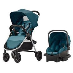 be1e78d42af9 Entourage Stroller in Black (also available in Navy). See more. Evenflo  Folio Travel System