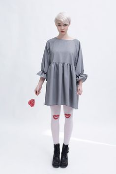 Angel Dress Grey - THE WHITEPEPPER