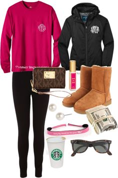 preppy winter day outfit/ love this whole get up.