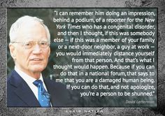 Letterman speaking about the disgusting Donald Trump making fun of a person witih disabilities!