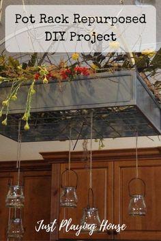 Repurpose a Pot Rack - Kitchen Decor - DIY Project