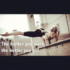 harder -> better