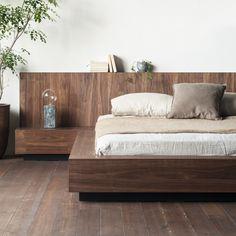 Modern Master Bedroom, Bedroom Bed Design, Home Bedroom, Bedroom Decor, Low Bed Frame, Platform Bed Designs, Japanese Bedroom, Camas King, Room Interior