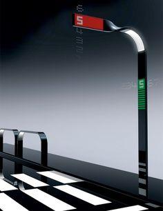 Street Lamp Traffic Light