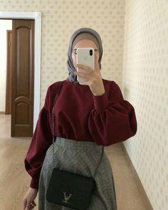 Hijab Fashion Summer, Modest Fashion Hijab, Modern Hijab Fashion, Street Hijab Fashion, Casual Hijab Outfit, Hijab Fashion Inspiration, Hijab Chic, Muslim Fashion, Abaya Fashion