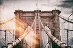 Wall Mural - The Brooklyn Bridge - Manhattan - New York - USA Wall Mural – Large by Philippe Hugonnard at AllPosters.com