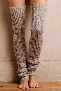 Ribbed Over-The-Knee Legwarmers. It's Flash Dance: Thigh High Leg Warmers, Thigh High Socks, Knee Socks, Thigh Highs, Boot Socks, Guêtres Au Crochet, Mode Crochet, Knooking, Crochet Leg Warmers