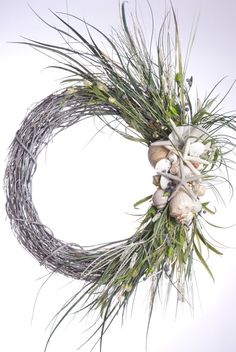 Oversize Beachy Wreath with Starfish and Shells