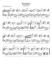 Küçüğüm - Piyano Notası #piyano #piano #nota #score Liberal Arts Education, Music Education, Learning Music, Piano Art, Piano Sheet Music, Weather Science, Magic Birthday, Candles For Sale, Love Symbols
