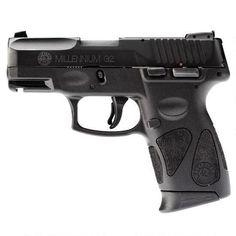 "Taurus Millennium G2 PT111 Semi Auto Pistol 9mm Luger 3.2"" Barrel 12 Rounds Accessory Rail Polymer Frame Black 1-111031G2-12"