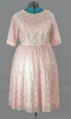 American 1950's Rose Lace Cocktail Dress, Just In