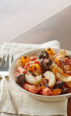 Zesty Roasted Vegetables — The garden-fresh vegetables in this tasty side dish get a boost of flavor from both the Italian dressing and Parmesan cheese.