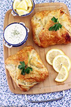 Salmon en Croûte with Lemon Dill Sauce by CinnamonKitchn, via Flickr