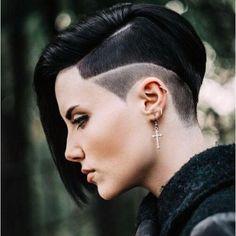 goth pixie cut