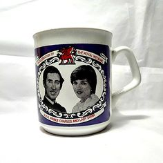 1981 Royal Wedding of Prince Charles and Lady Diana commemorative mug.