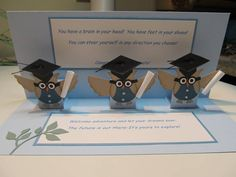 Graduating Pop Up Owls! by figaro - Cards and Paper Crafts at Splitcoaststampers