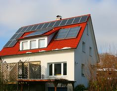 House with solar cell. A house with solar cells on the roof , Uses Of Solar Energy, Renewable Sources Of Energy, Solar Energy Panels, Best Solar Panels, Solar Projects, Solar Panel Installation, Panel Systems, Solar Energy System, Solar House