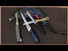 Scissors Sharpening Machine Using a Drill - YouTube