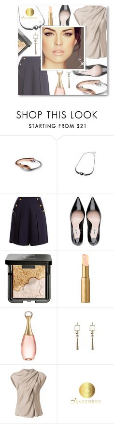 """""""Angieberrys"""" by matildiwinky ❤ liked on Polyvore featuring Lanvin, Chantecaille, Too Faced Cosmetics, Christian Dior, Giorgio Armani and Angieberrys"""