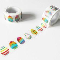 Washi tape huevos de colores