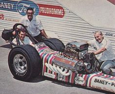 Don Prudhomme, driver of Lou Baney's 427 Ford AAFD Dragster