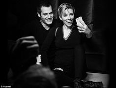 Picture perfect! Scarlett and Henry united for Huawei's P9 commercial and photo shoot...