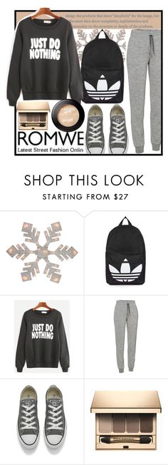"""""""ROMWE"""" by amilasahbazovic ❤ liked on Polyvore featuring Topshop, Icebreaker, Converse and Clarins"""