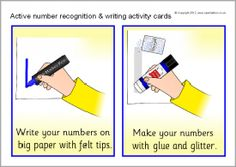 Active number recognition and writing activity cards (SB7893) - SparkleBox