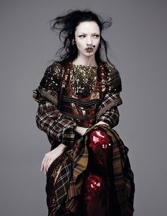 Mariacarla Boscono stars in this stunning shoot by Willy Vanderperre for Dazed