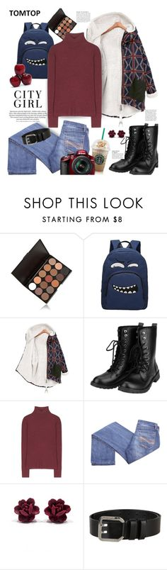 """""""Tomtop.com: City Girl!"""" by hamaly ❤ liked on Polyvore featuring T By Alexander Wang, Nikon, Dsquared2, Anja, women's clothing, women, female, woman, misses and juniors"""