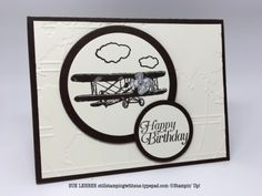 Handmade masculine birthday card using the Sale-a-Bration Sky is the Limit Stamp Set from Stampin' Up!