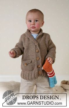 Knitted DROPS Jacket and soft toy in Alpaca ~ DROPS Design Contact joscyl@yahoo.com to custom make this design