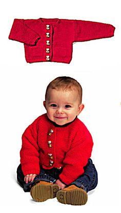 Image of One Stitch Baby Sweater. Free pattern