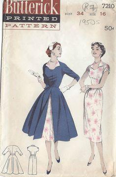 Vintage Sewing Pattern vestido y levita Butterick Sewing Patterns, Dress Sewing Patterns, Vintage Sewing Patterns, Knitting Patterns, Mode Vintage, Vintage Vogue, Vintage Fashion, 1950s Fashion, Vintage Style