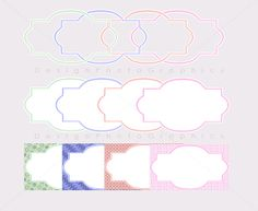 Colored Printable Labels  Instant Download  by DesignPhotoGraphics, €3.50