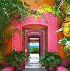 Las Alamandas, Jalisco Mexico You are in the right place about tropical garden ideas planters Here w Mexico Resorts, Beach Resorts, The Places Youll Go, Places To Visit, Belle Photo, Pretty In Pink, Exotic, Beautiful Places, Beautiful Life