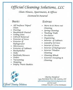 Free Printable Housekeeping Flyer Free Flyer Templates