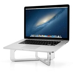 support de bureau ghost stand de twelve south pour macbook